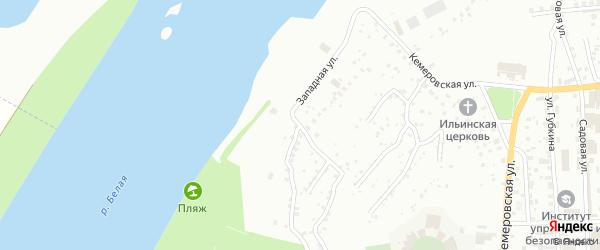 Западная улица на карте Уфы с номерами домов