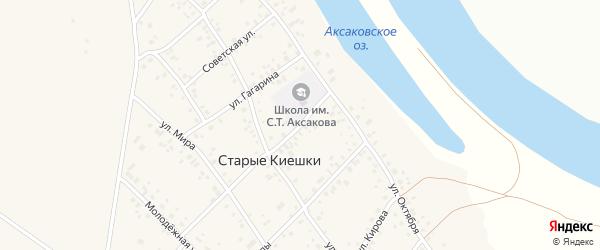 Улица Агидель на карте деревни Старые Киешки с номерами домов