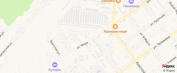 Овражная улица на карте Чернушки с номерами домов
