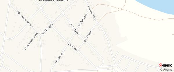 1 Мая улица на карте деревни Старые Киешки с номерами домов