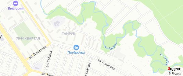 Улица Марии Расковой на карте Ишимбая с номерами домов