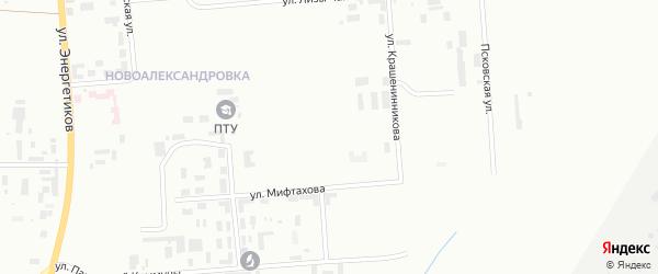 Улица Циолковского на карте Уфы с номерами домов