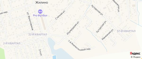 Изумрудная улица на карте деревни Жилино с номерами домов