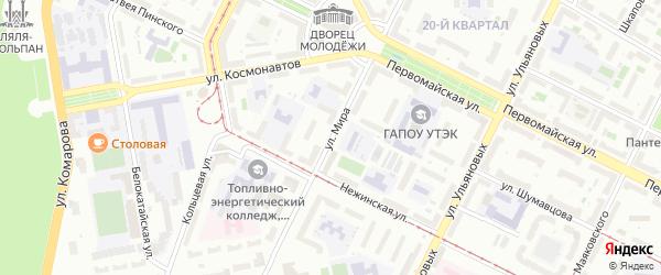 Улица Мира на карте села Старые Турбаслы с номерами домов