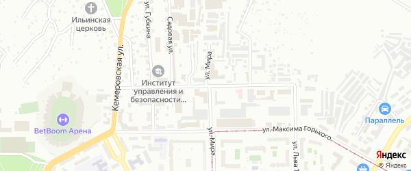 Новочеркасская улица на карте Уфы с номерами домов