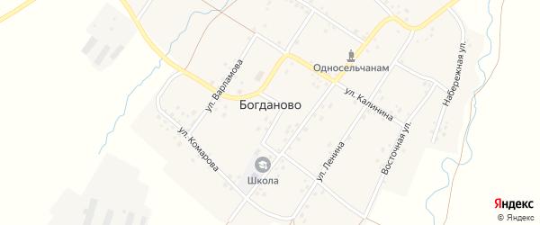 Советская улица на карте села Богданово Башкортостана с номерами домов