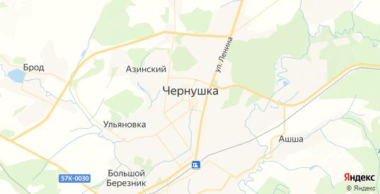 Карта Чернушки с улицами и домами подробная. Показать со спутника номера домов онлайн