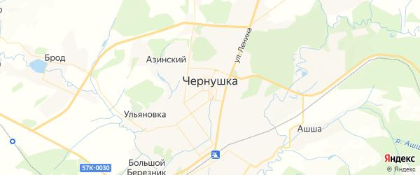 Карта Чернушки с районами, улицами и номерами домов