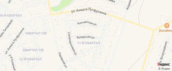 Булярская улица на карте села Нагаево с номерами домов