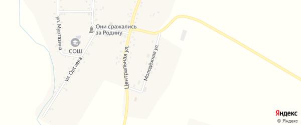 Молодежная улица на карте села Камеево Башкортостана с номерами домов