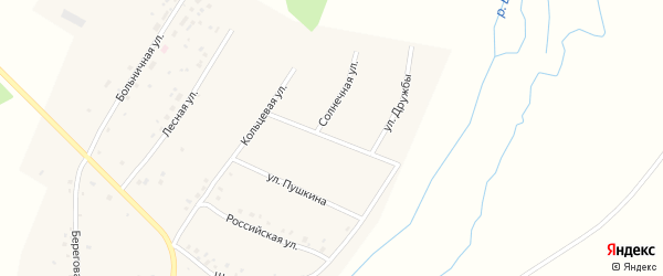 Олимпийская улица на карте села Камеево Башкортостана с номерами домов