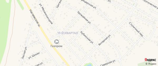 Переулок Художников на карте села Нагаево с номерами домов