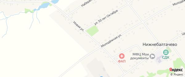 Новая улица на карте села Нижнебалтачево с номерами домов