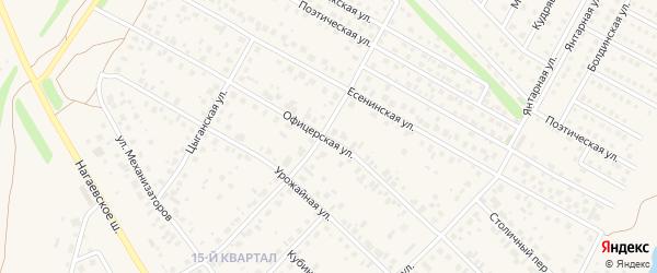 Офицерская улица на карте села Нагаево с номерами домов