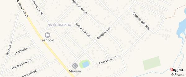 Кубинская улица на карте села Нагаево с номерами домов