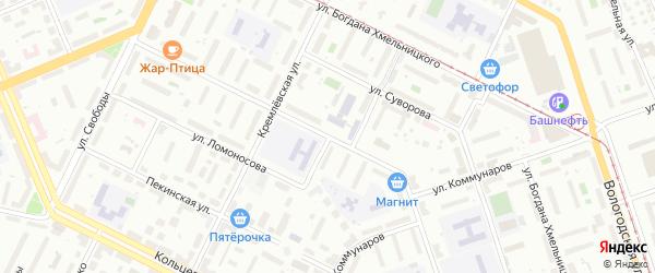 Улица Ломоносова на карте Уфы с номерами домов