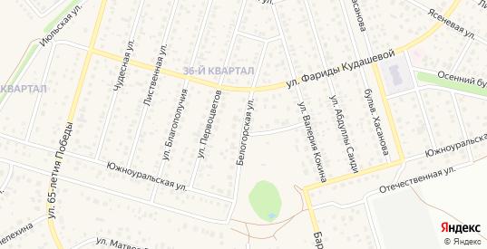 Белогорская улица в Октябрьском с номерами домов на карте. Спутник и схема онлайн