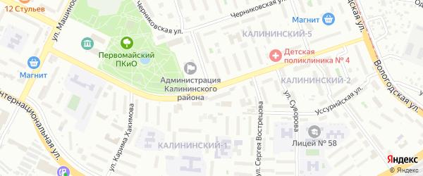 Улица Орджоникидзе на карте Уфы с номерами домов