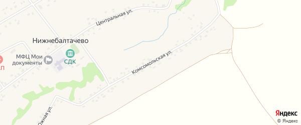 Комсомольская улица на карте села Нижнебалтачево с номерами домов