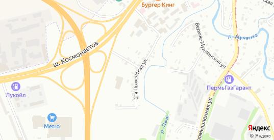 Пыжевская 2-я улица в Перми с номерами домов на карте. Спутник и схема онлайн