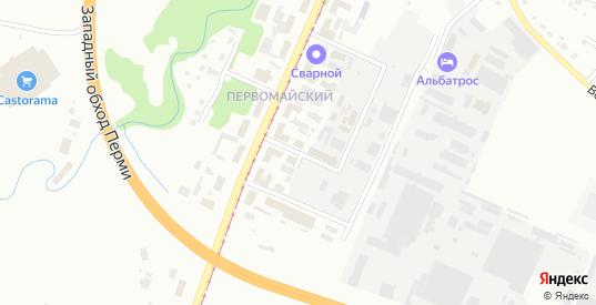 Белоярский 2-й переулок в Перми с номерами домов на карте. Спутник и схема онлайн