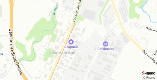 Белоярский 1-й переулок в Перми с номерами домов на карте. Спутник и схема онлайн