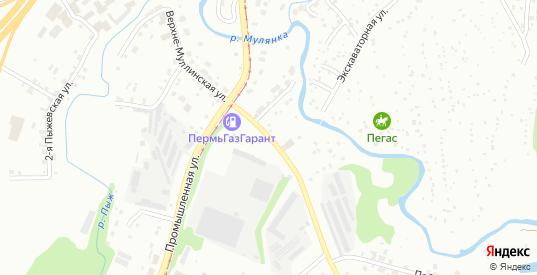 Верхне-Муллинская улица в Перми с номерами домов на карте. Спутник и схема онлайн