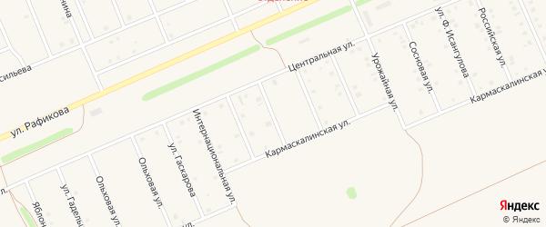 Улица Флюры Сагадеевой на карте села Кармаскалы с номерами домов