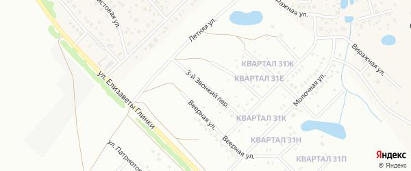 3-й Звонкий переулок на карте Уфы с номерами домов