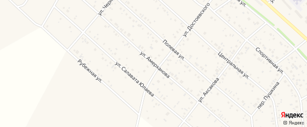 Улица Амерханова на карте деревни Кабаково с номерами домов