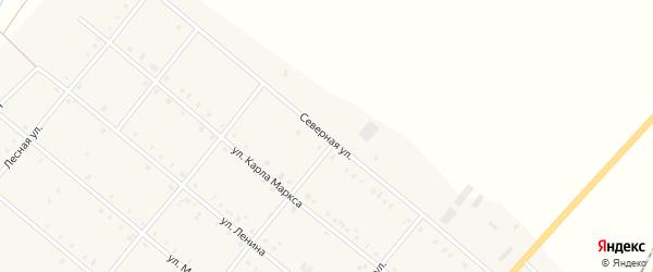 Северная улица на карте села Покровки с номерами домов