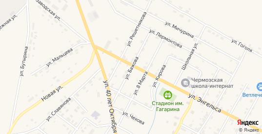 Улица Бажова в Чермозе с номерами домов на карте. Спутник и схема онлайн