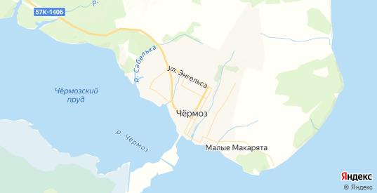 Карта Чермоза с улицами и домами подробная. Показать со спутника номера домов онлайн