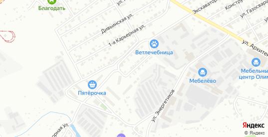 Карьерная 3-я улица в Перми с номерами домов на карте. Спутник и схема онлайн