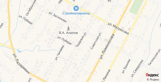 Трудовая улица в Чермозе с номерами домов на карте. Спутник и схема онлайн