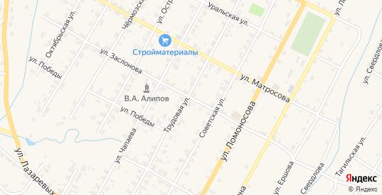 Улица Заслонова в Чермозе с номерами домов на карте. Спутник и схема онлайн