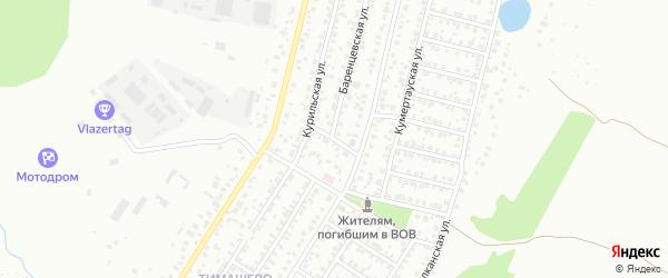 Кызыльская улица на карте Уфы с номерами домов