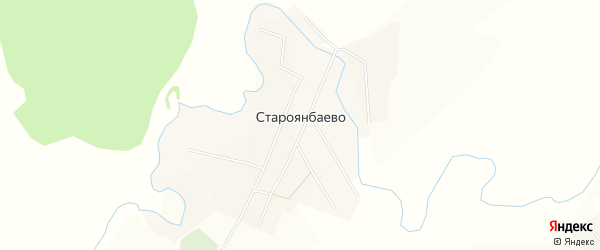 Карта деревни Староянбаево в Башкортостане с улицами и номерами домов