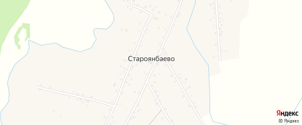 Улица Матросова на карте деревни Староянбаево с номерами домов