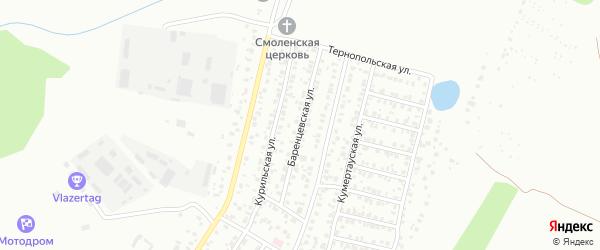 Баренцевская улица на карте Уфы с номерами домов
