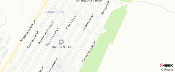 Балканская улица на карте Уфы с номерами домов