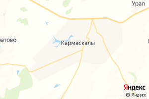Карта с. Кармаскалы Республика Башкортостан