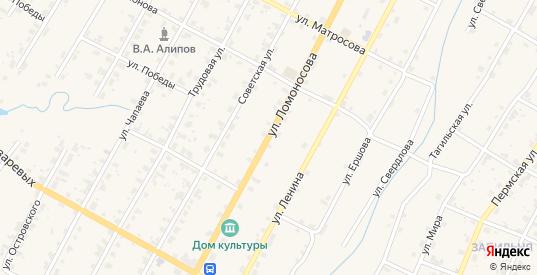 Улица Ломоносова в Чермозе с номерами домов на карте. Спутник и схема онлайн