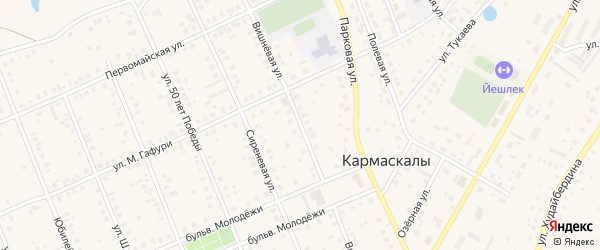 Вишневая улица на карте села Кармаскалы с номерами домов