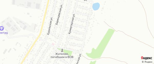 Канинская улица на карте Уфы с номерами домов