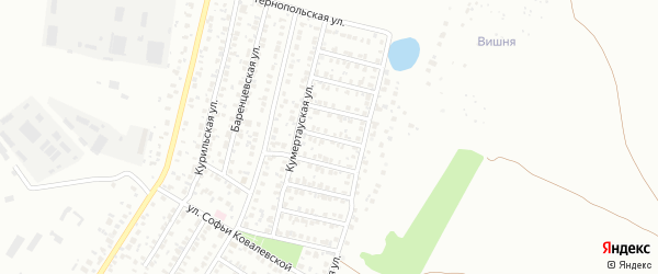Луцкая улица на карте Уфы с номерами домов