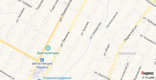 Улица Ершова в Чермозе с номерами домов на карте. Спутник и схема онлайн