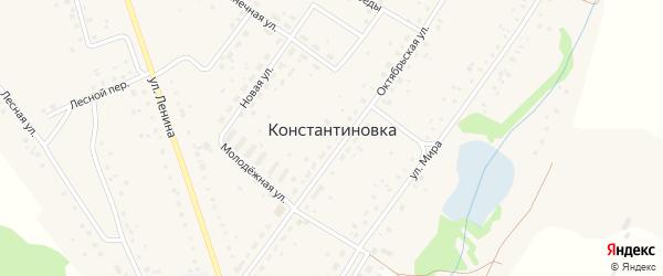 Аграрная улица на карте деревни Константиновки с номерами домов