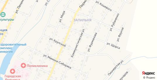 Коммунистическая улица в Чермозе с номерами домов на карте. Спутник и схема онлайн