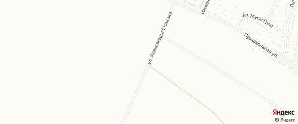 Улица Александра Спивака на карте Уфы с номерами домов